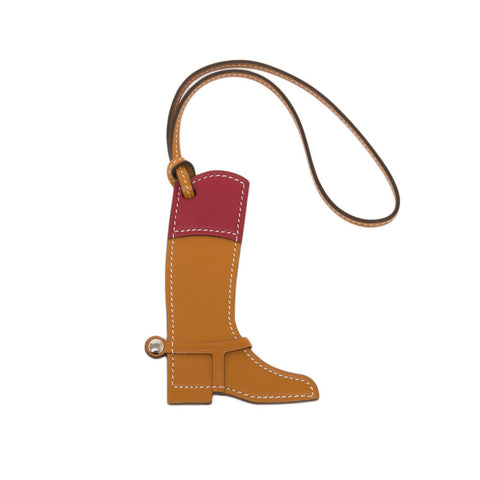 Hermes Paddock Botte Boot Leather Bag Charm Accessories