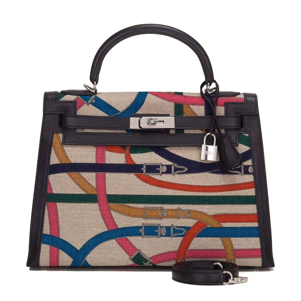 Hermes Limited Edition Cavalcadour Kelly 32Cm Palladium Hardware Handbags