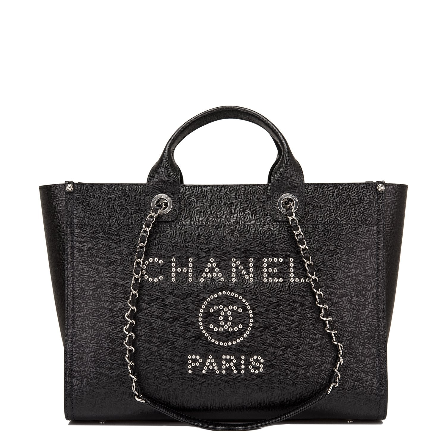 520bf5d2538f Chanel Black Leather Medium Deauville Tote – Madison Avenue Couture