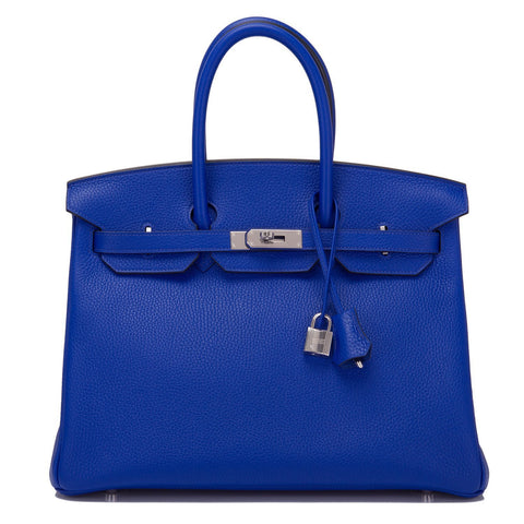 3b3ace25b Hermes Blue Electric Togo Birkin 35cm Palladium Hardware