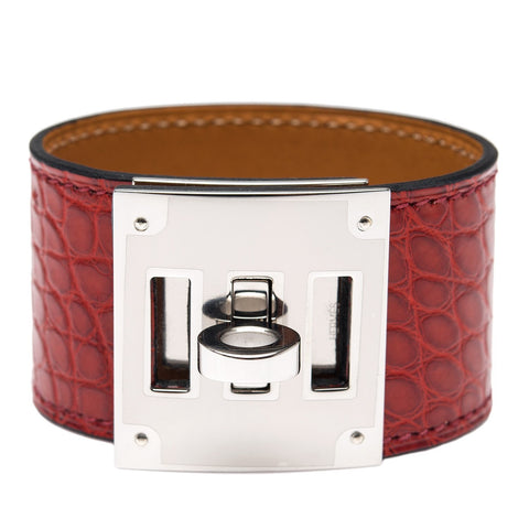 4bd15c0d3f Hermes Rouge H Matte Alligator Kelly Dog Bracelet