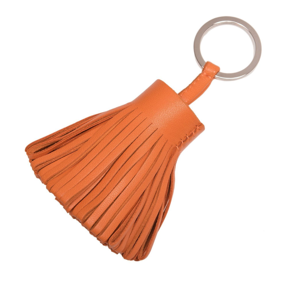 Hermes Orange Lambskin Carmen Keychain Accessories