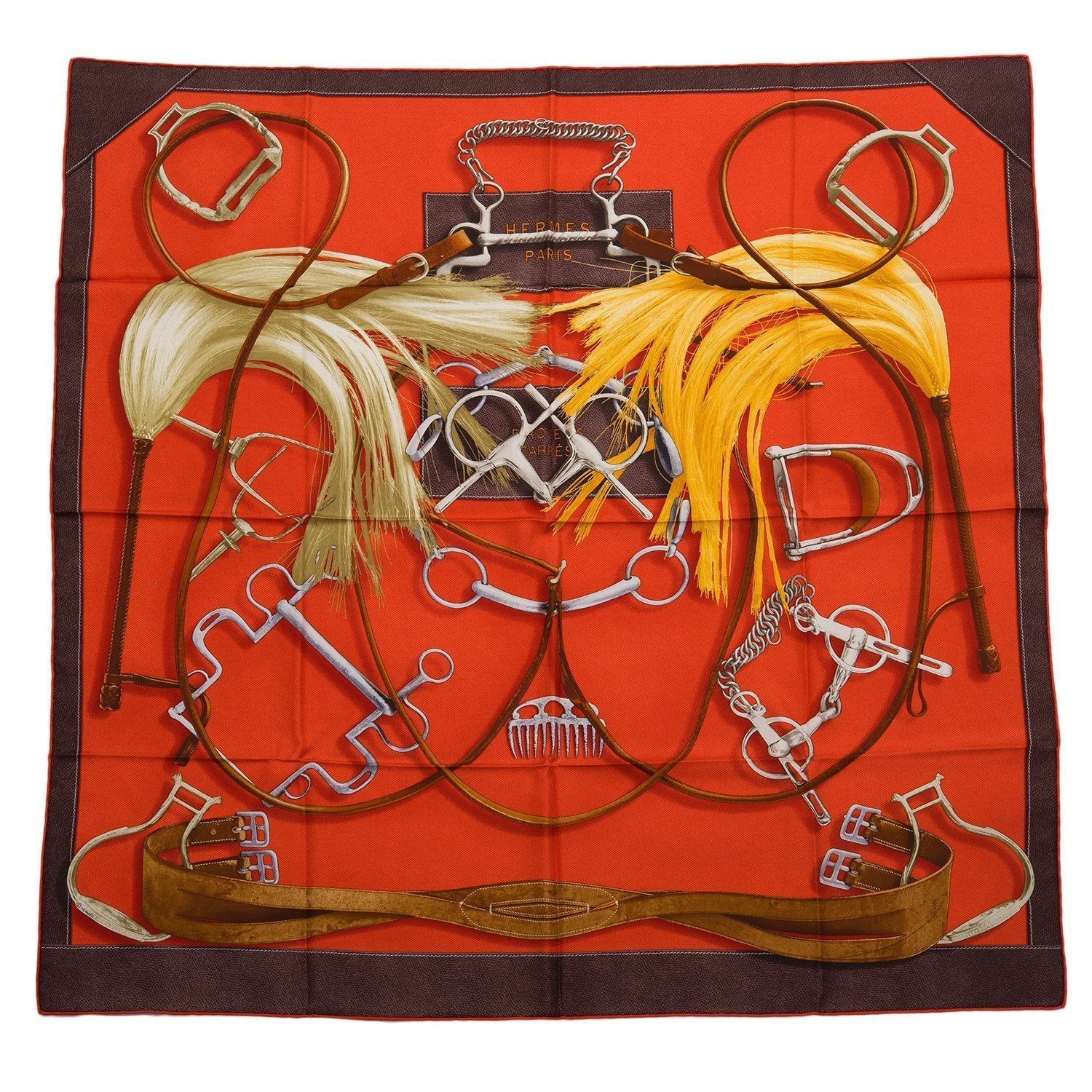Hermes Project Carres Silk Twill Scarf 90Cm Scarves
