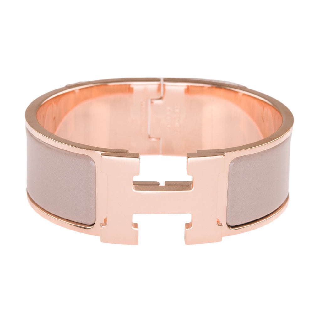 Hermes Marron Glace Enamel H Clic Clac Wide Bracelet Pm Accessories