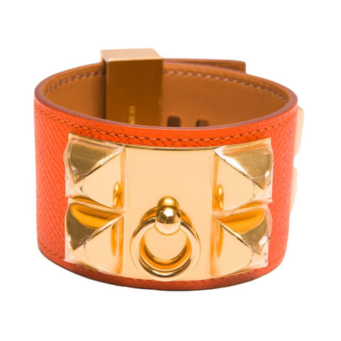 Hermes Feu Leather Collier De Chien Cdc Bracelet Small Accessories