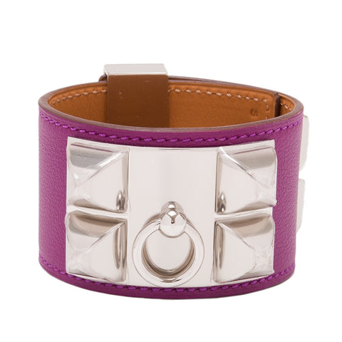 Hermes Anemone Leather Collier De Chien Cdc Bracelet Small Accessories
