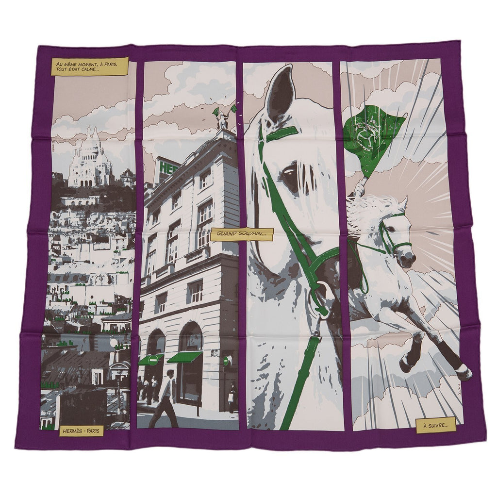Hermes Quand Soudain Silk Twill Scarf 70Cm Scarves