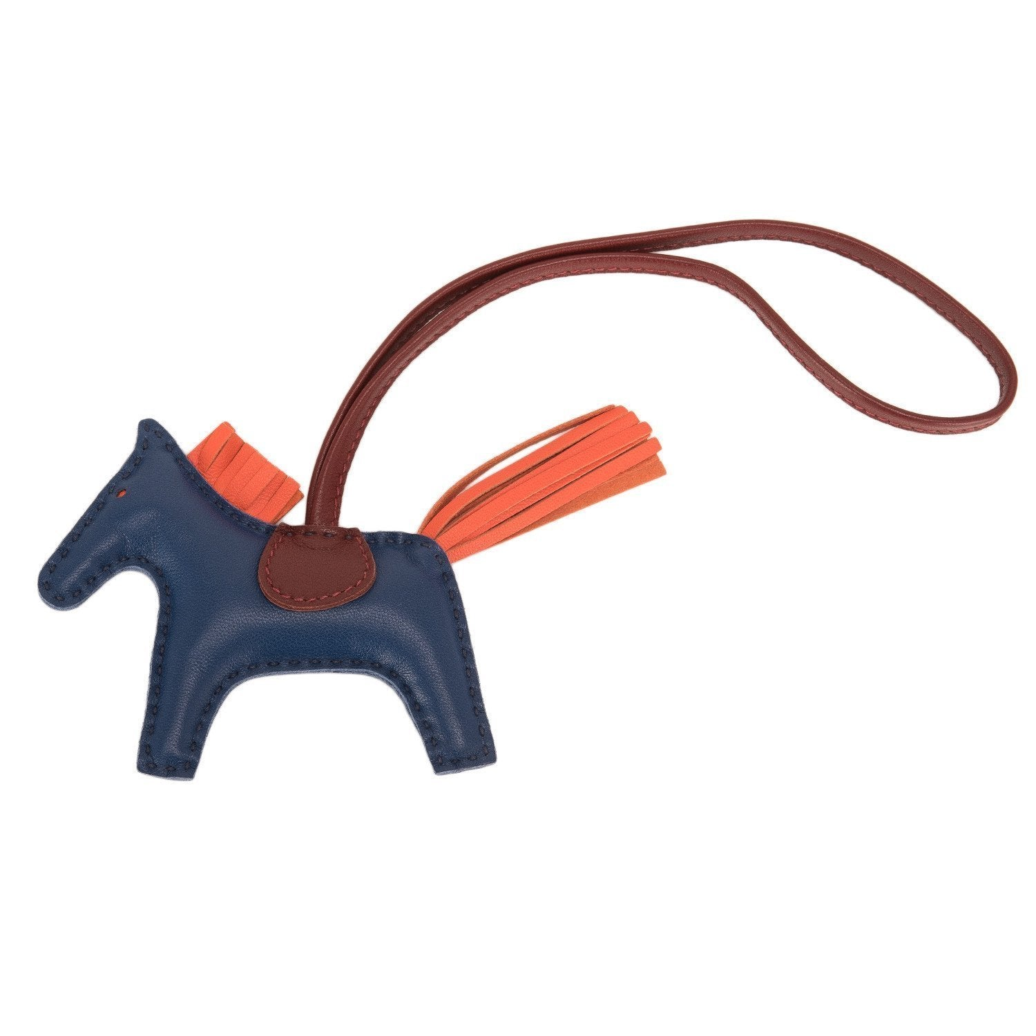 Hermes Blue De Malte Rodeo Bag Charm Pm Accessories