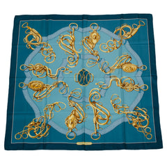 "Hermes ""Profile Sellier"" Silk Twill Scarf 90cm (Preloved - Excellent)"