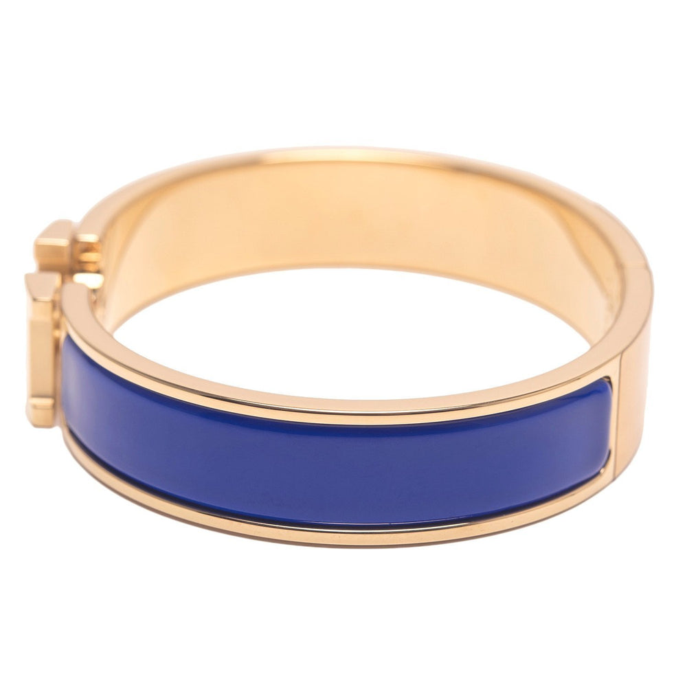 Hermes Royal Blue Clic Clac H Narrow Enamel Bracelet Pm Accessories