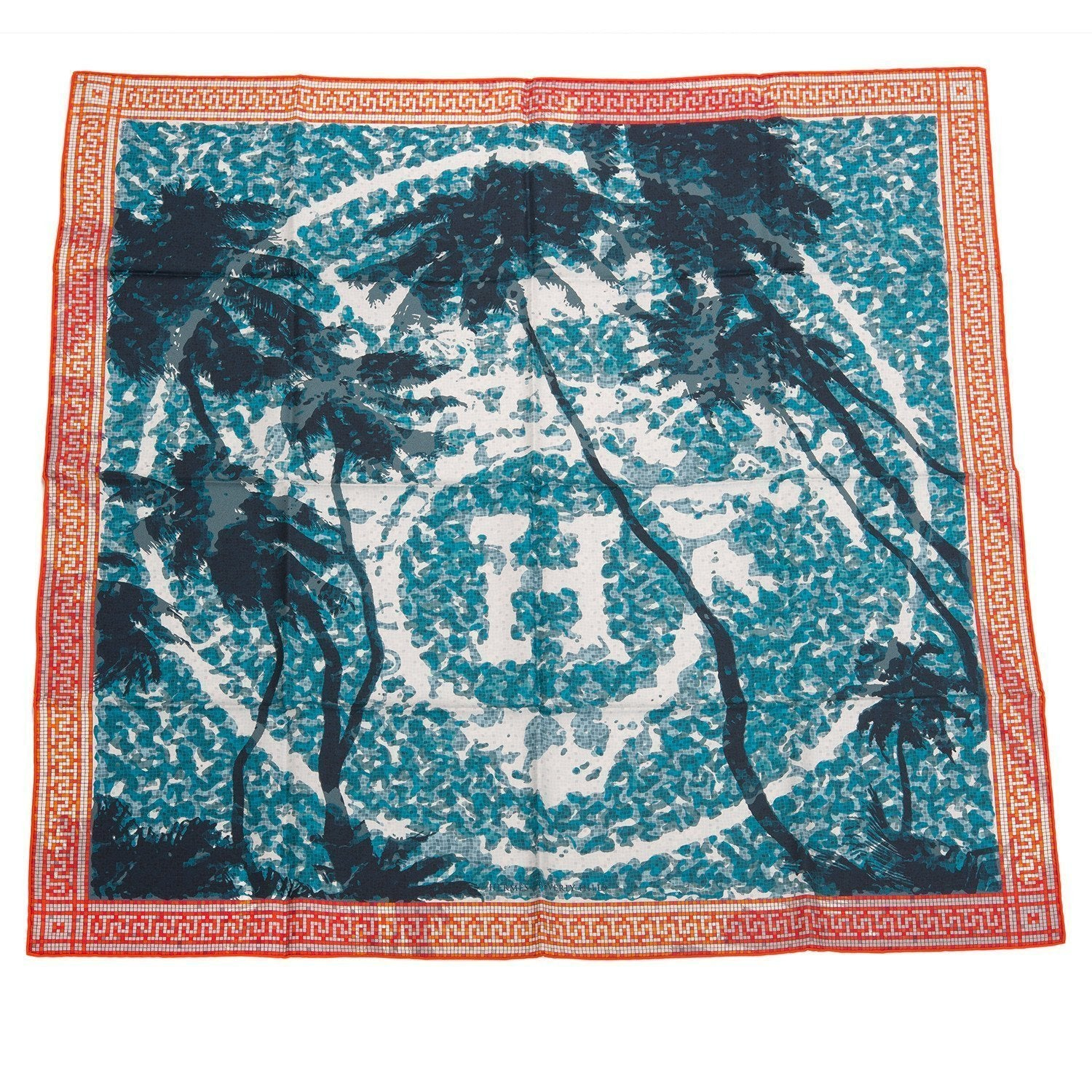 Hermes A Beverly Hills Silk Twill Scarf 90Cm Scarves