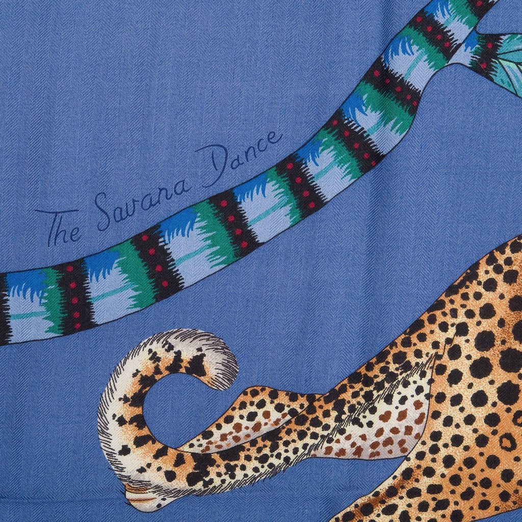 Hermes The Savana Dance Cashmere And Silk Shawl 140Cm Scarves