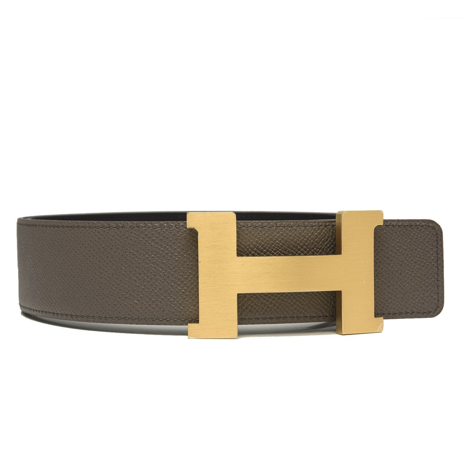 Hermes 42Mm Reversible Blacketain Constance H Belt 90Cm Brushed Gold Buckle Accessories