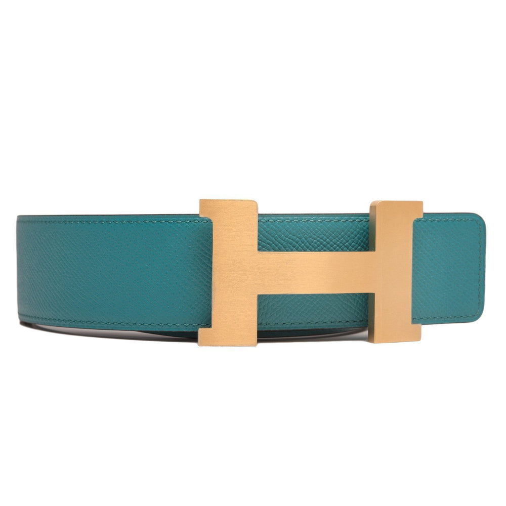 Hermes 42Mm Reversible Blue Indigoblue Paon Constance H Belt 85Cm Brushed Gold Buckle Accessories