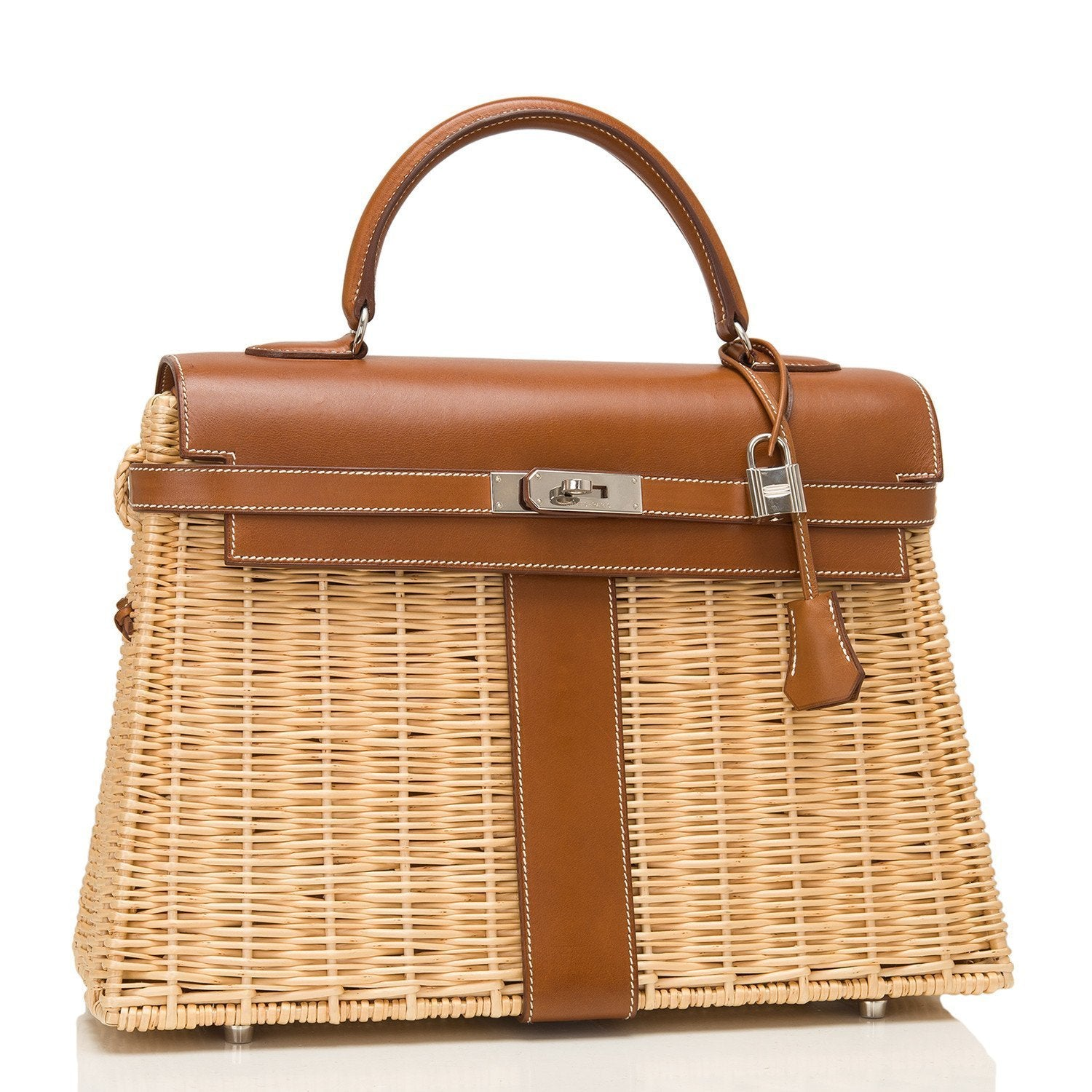 4190f85bbc Hermes Wicker and Barenia Leather Kelly Picnic Bag 35cm PHW – Madison  Avenue Couture