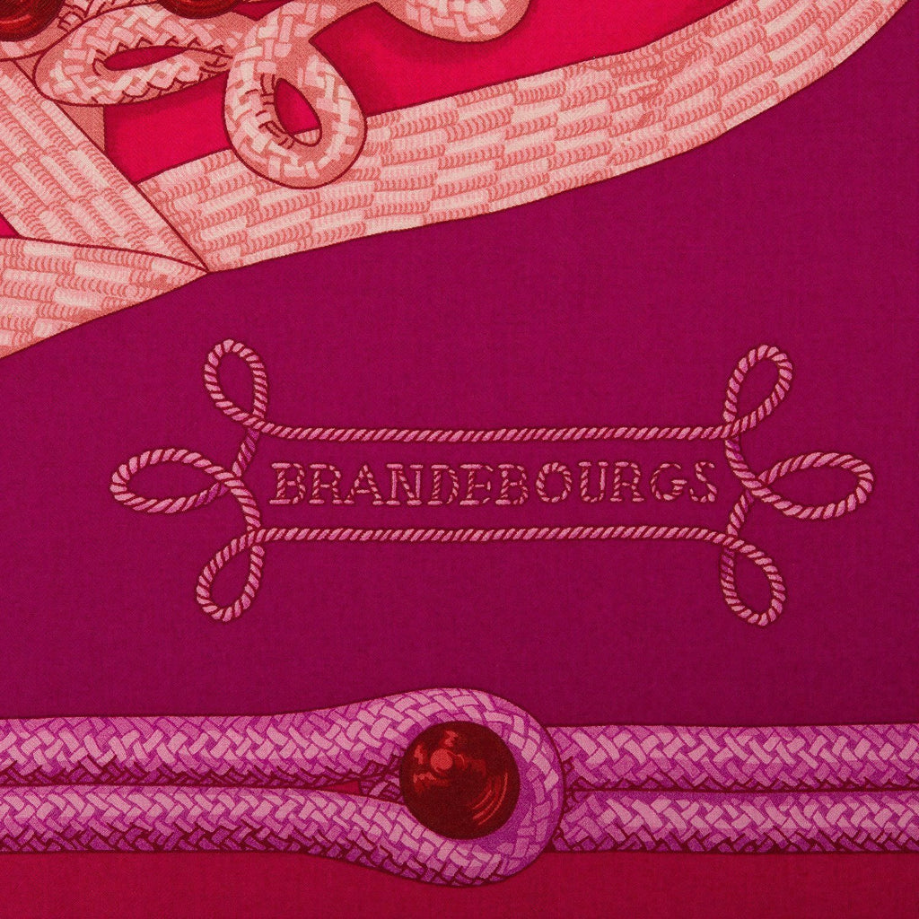 Hermes Brandebourgs Cashmere And Silk Shawl 140Cm Scarves