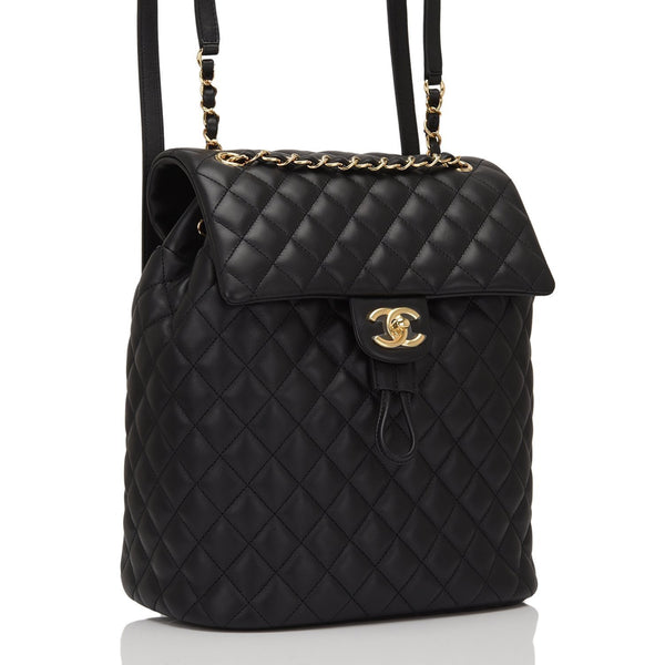 6e1d531bd65c Chanel Urban Spirit Black Quilted Lambskin Large Backpack – Madison ...
