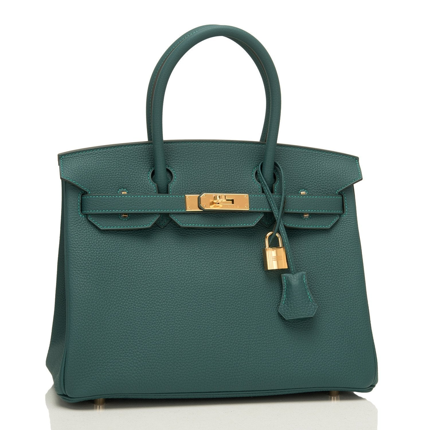 Hermes Malachite Togo Birkin 30Cm Gold Hardware Handbags