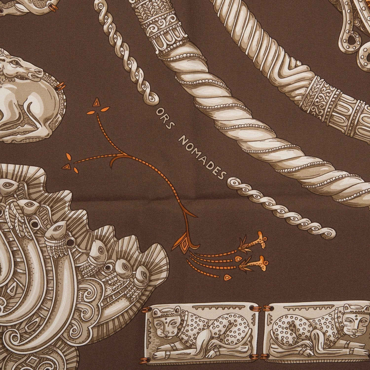 Hermes Ors Nomades Silk Twill Scarf 90Cm Scarves