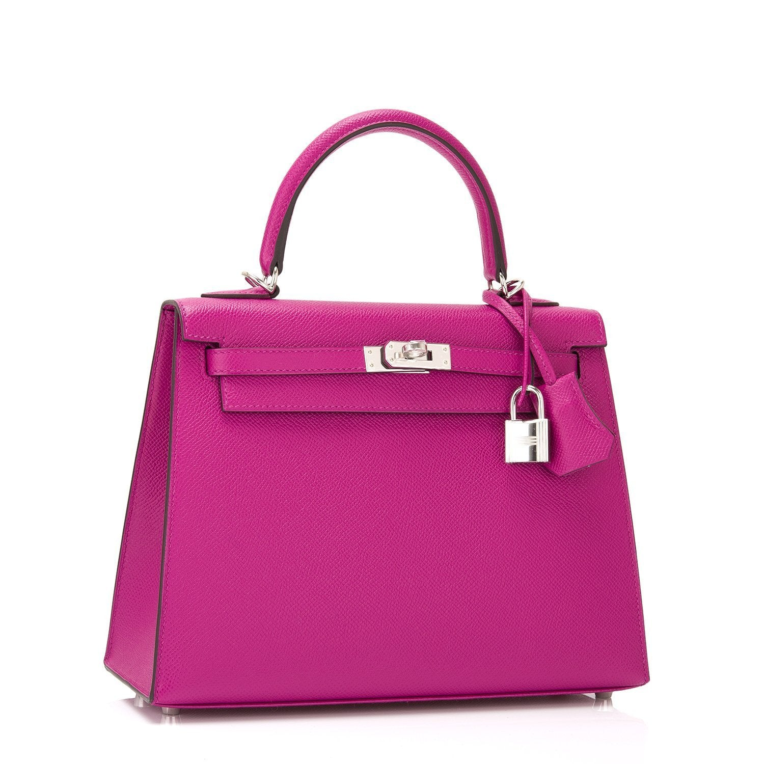 ab09ec60fcf8 Hermes Rose Pourpre Epsom Sellier Kelly 25cm PHW – Madison Avenue Couture