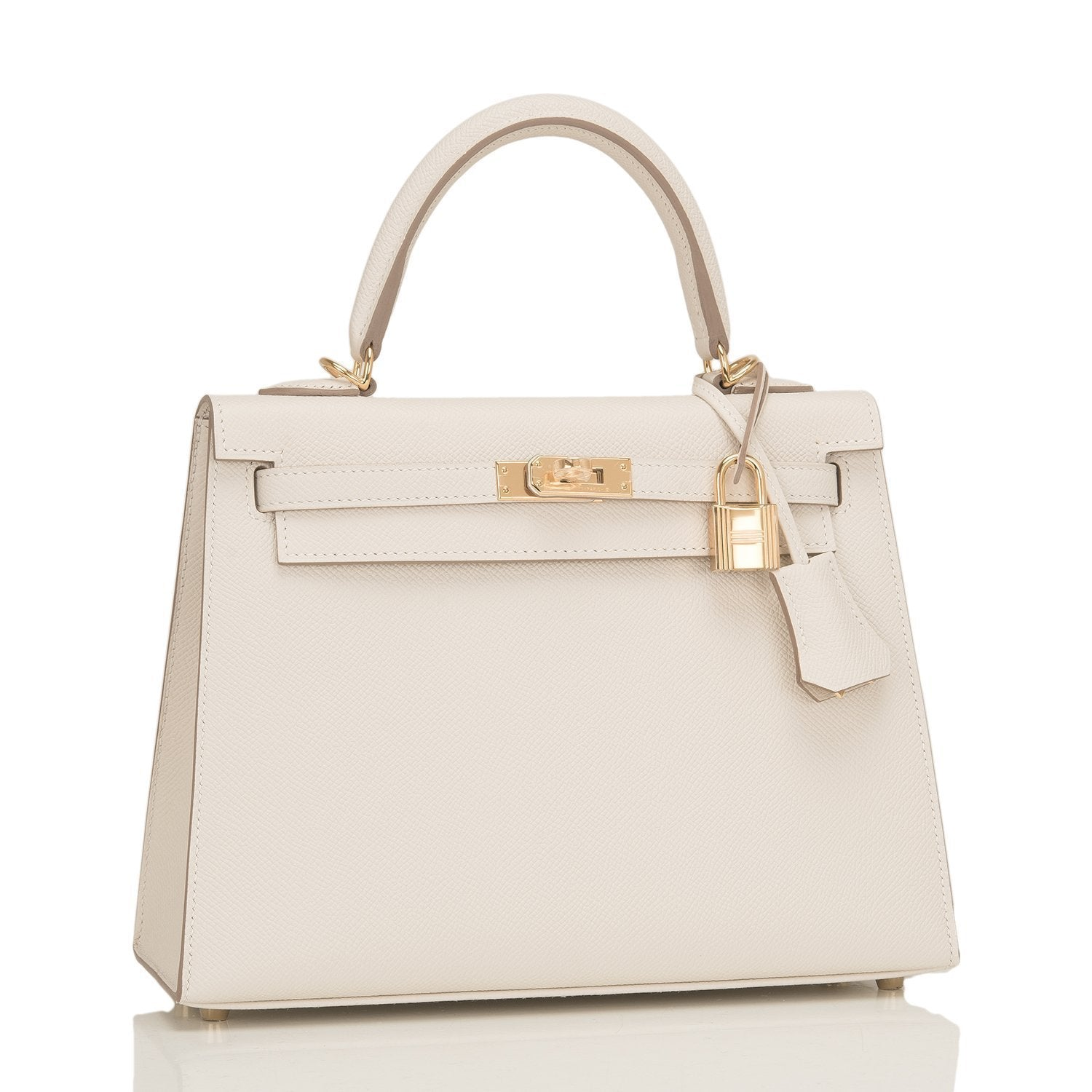 f5e80fab4cf7 Hermes Craie Epsom Sellier Kelly 25cm Gold Hardware – Madison Avenue Couture