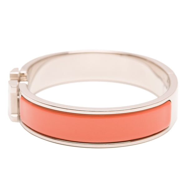 Hermes Clic Clac H Salmon Pink Narrow Enamel Bracelet Pm Accessories