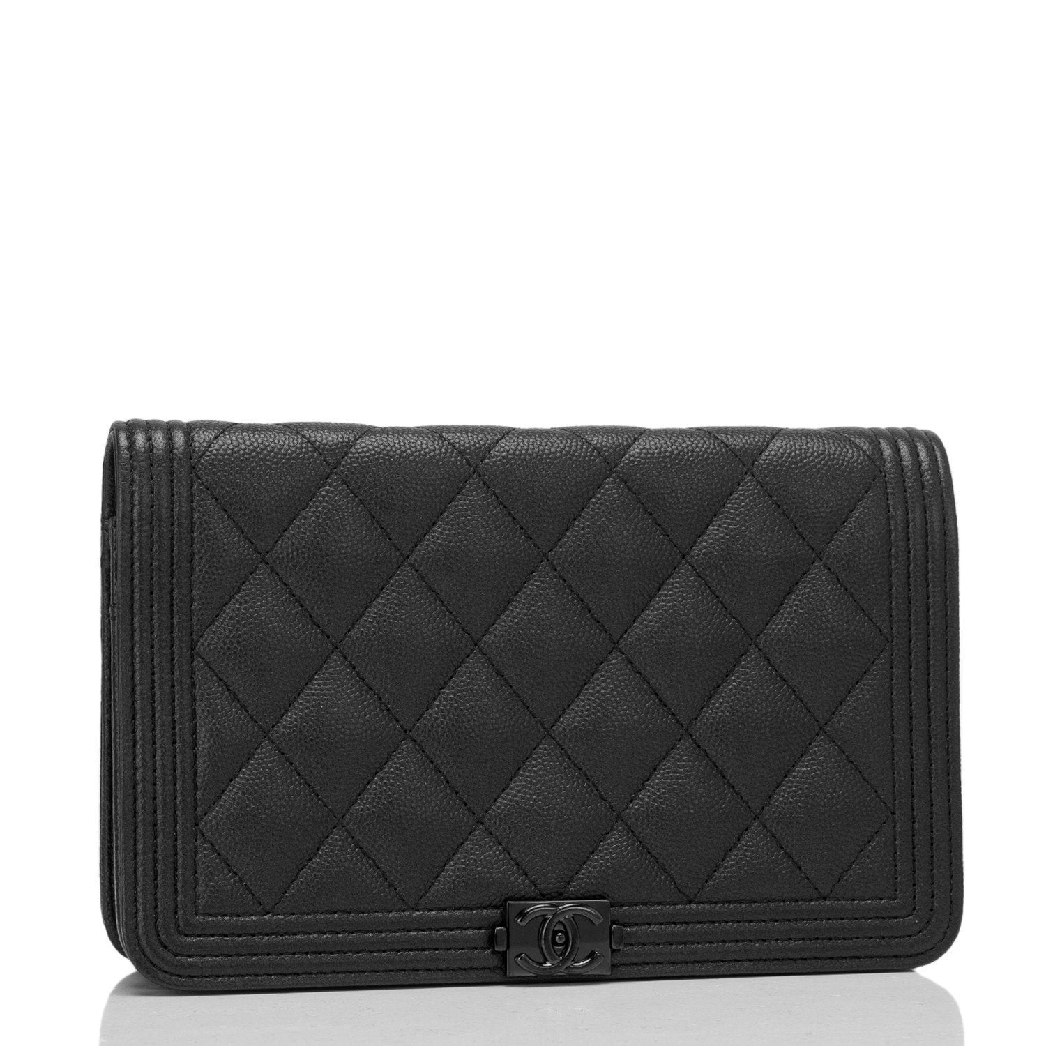 8fd83d76d077 Chanel SO Black Quilted Caviar Boy Wallet On Chain (WOC) – Madison Avenue  Couture