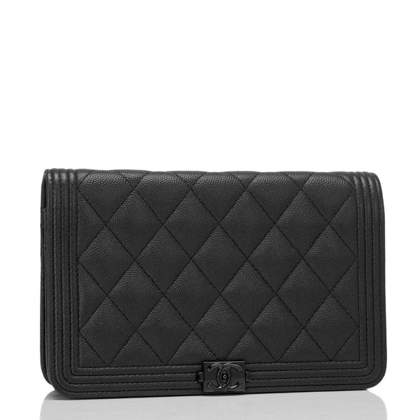 957e2de8426a Chanel SO Black Quilted Caviar Boy Wallet On Chain (WOC) – Madison ...