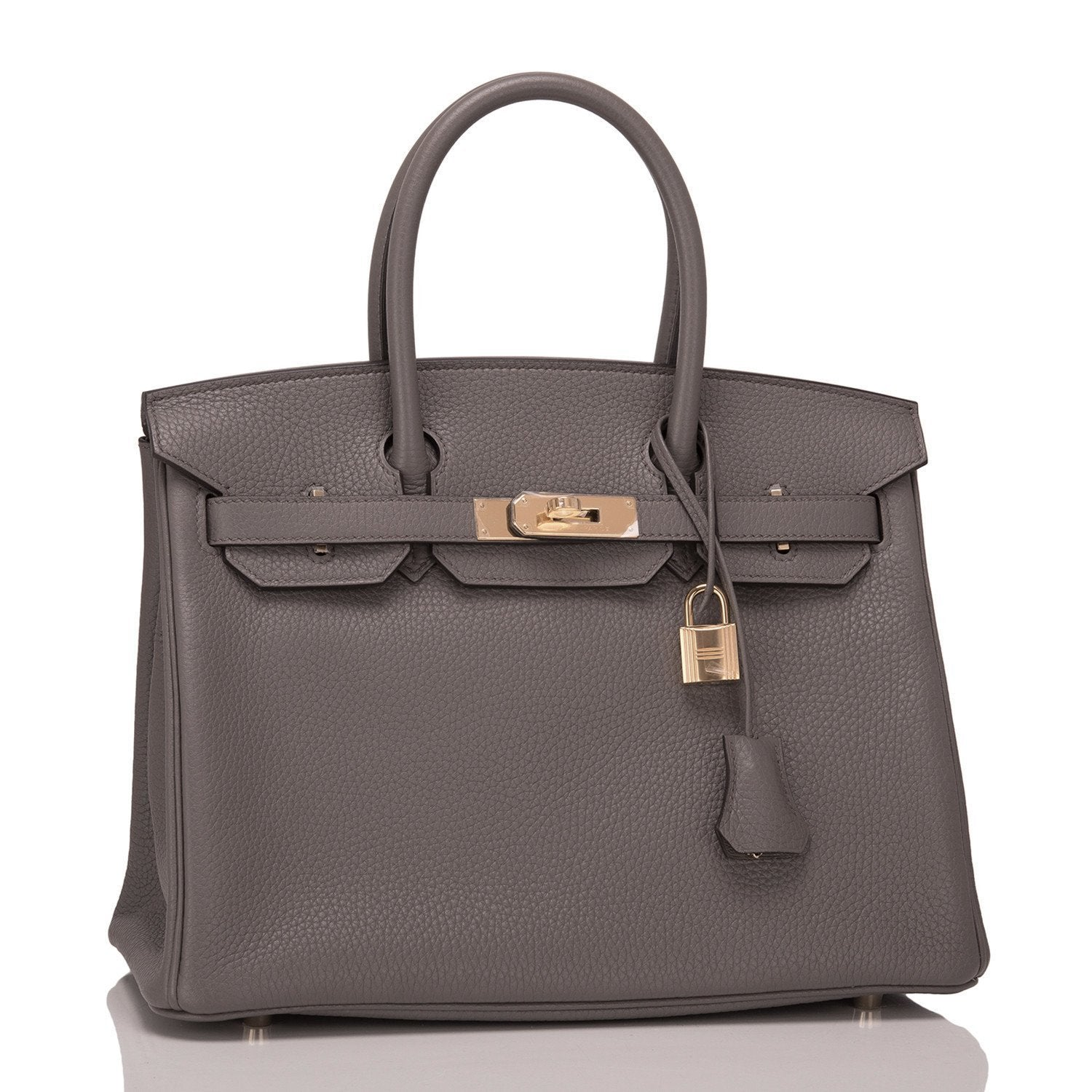 aa53b7af0fd5 Hermes Etain Clemence Birkin 30cm Gold Hardware – Madison Avenue Couture