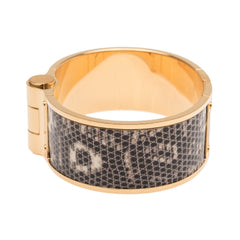 Hermes Ombre Lizard Wide Hinged Bracelet Large Accessories
