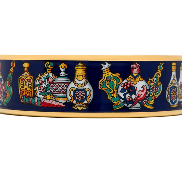 Hermes Flacons Wide Printed Enamel Bracelet Gm 70 Accessories