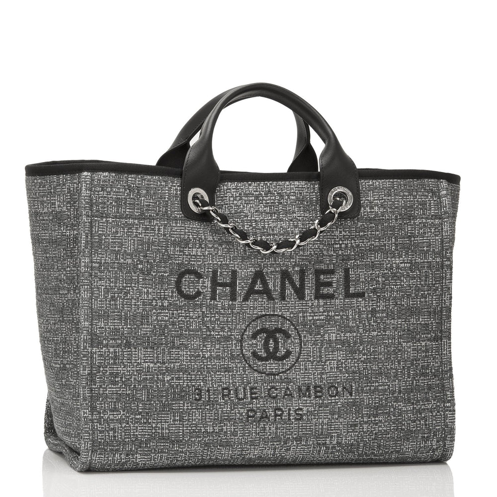 b6801f1c2 Chanel Large Charcoal Canvas Deauville Tote – Madison Avenue Couture
