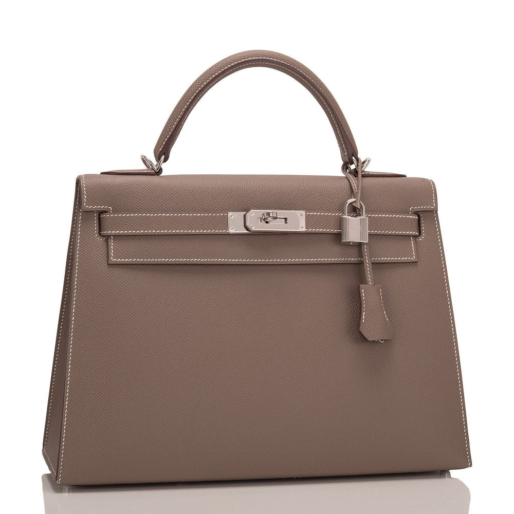 Hermes Etoupe Epsom Sellier Kelly 32Cm Handbags