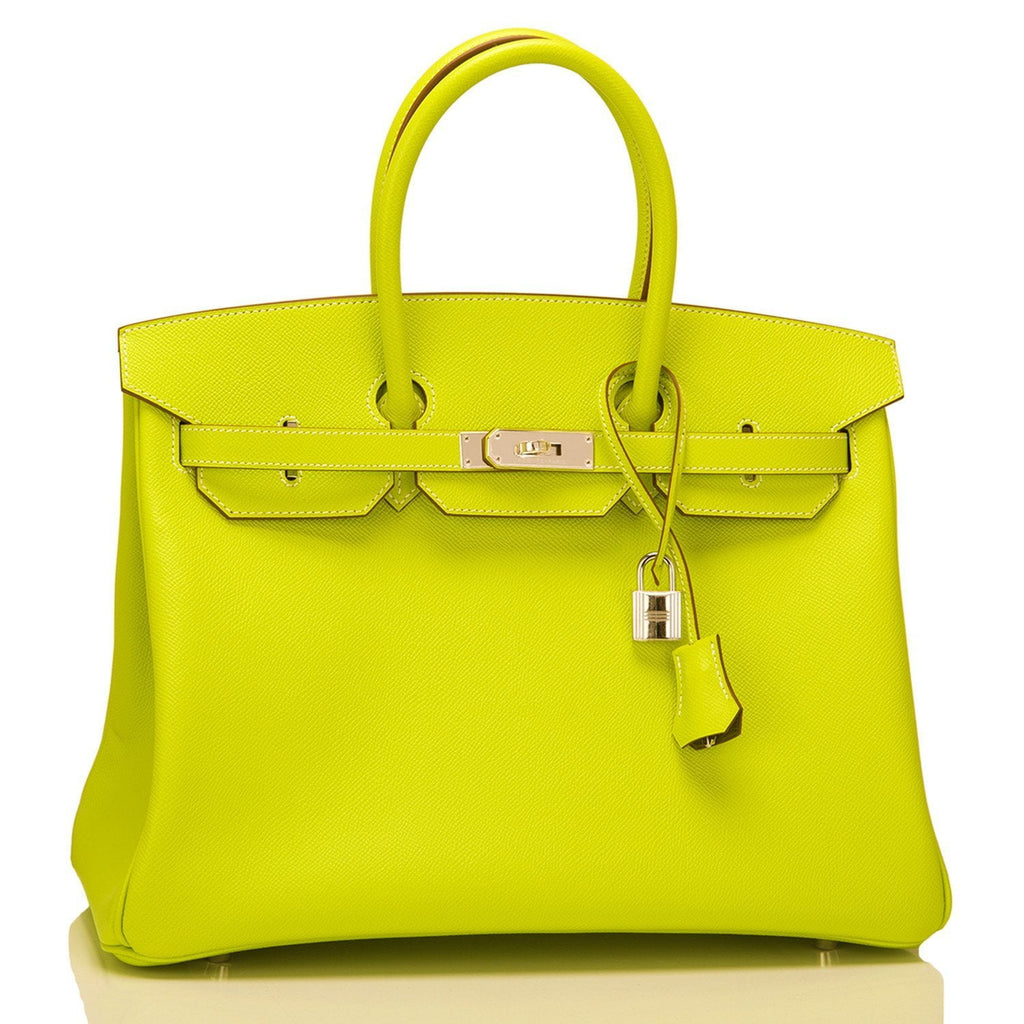 Hermes Kiwi Epsom Bi Color Candy Birkin 35Cm Palladium Hardware Handbags