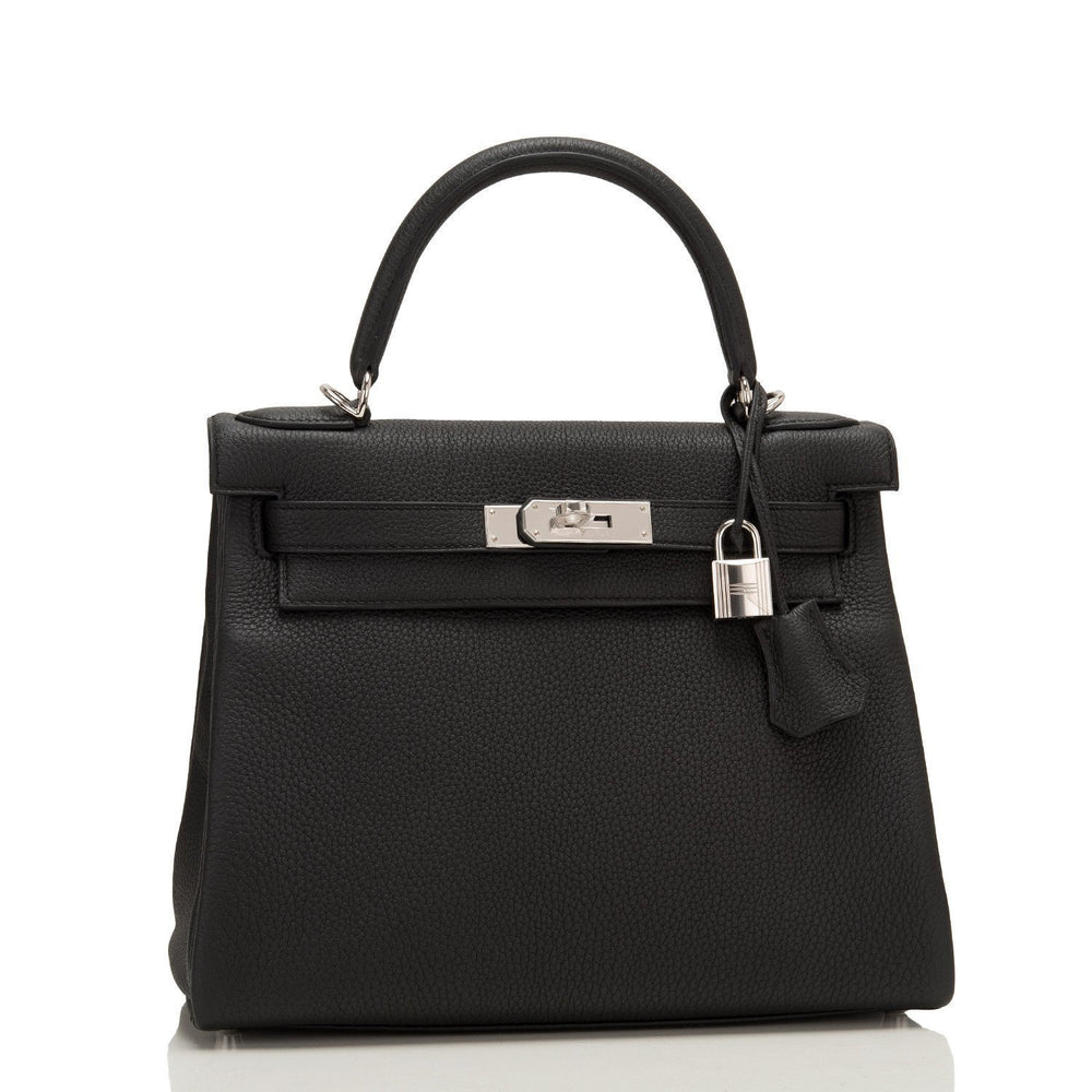 Hermes Black Togo Kelly 28Cm Palladium Hardware Payment 1 Handbags