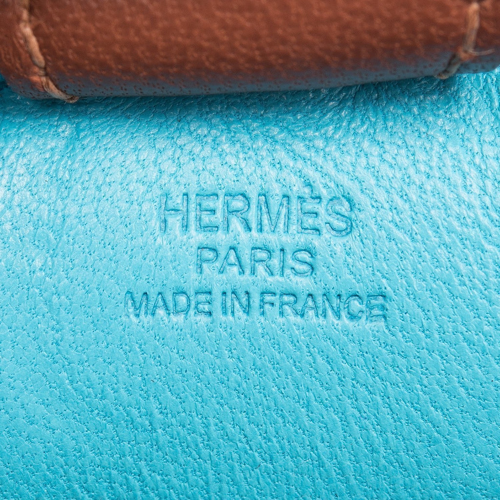 Hermes Blue Izmir Horse Rodeo Bag Charm Pm Accessories