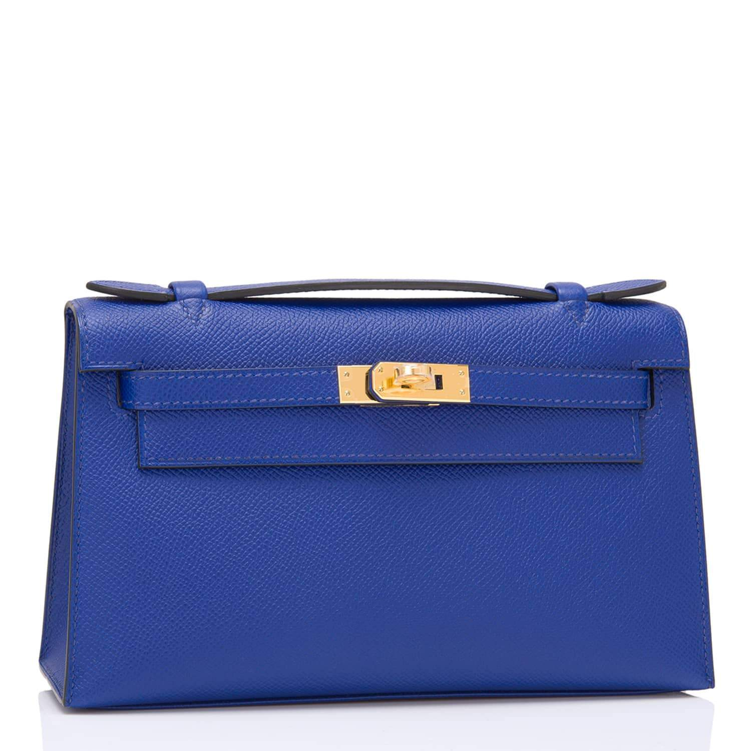Hermes Blue Electric Epsom Mini Kelly Pochette Handbags