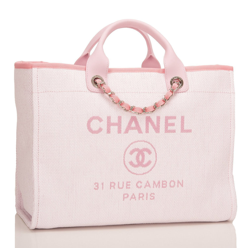 65cb85245d Chanel Large Pink Deauville Canvas Tote – Madison Avenue Couture