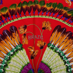 Hermes Brazil Silk Twill Scarf 90Cm Preloved Excellent Scarves