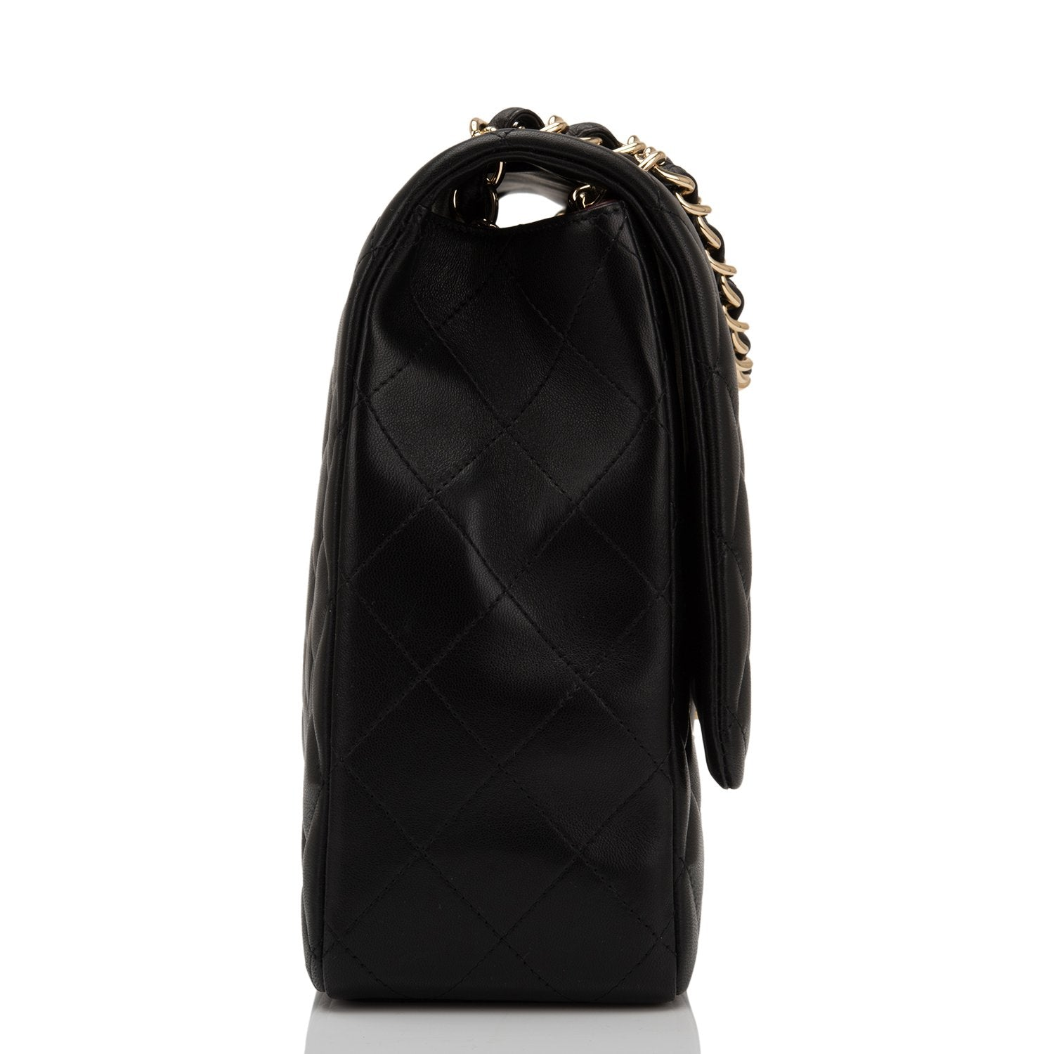 Chanel Black Quilted Lambskin Maxi Classic Single Flap
