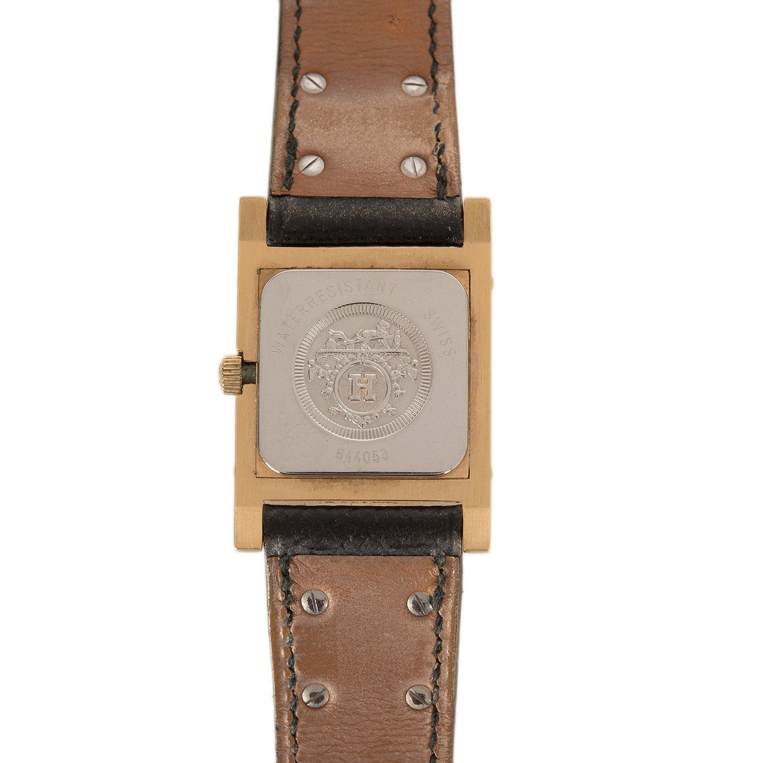 Hermes Medor Watch Pm Black Courchevel Leather Band Preloved Excellent Accessories