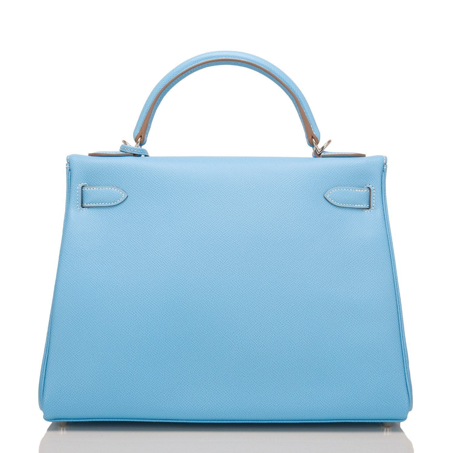 Hermes Bi Color Celeste And Mykonos Epsom Retourne Candy Kelly 32Cm Handbags