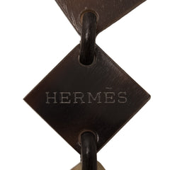 Hermes Liao Buffalo Horn And Lacquered Wood Necklace Accessories