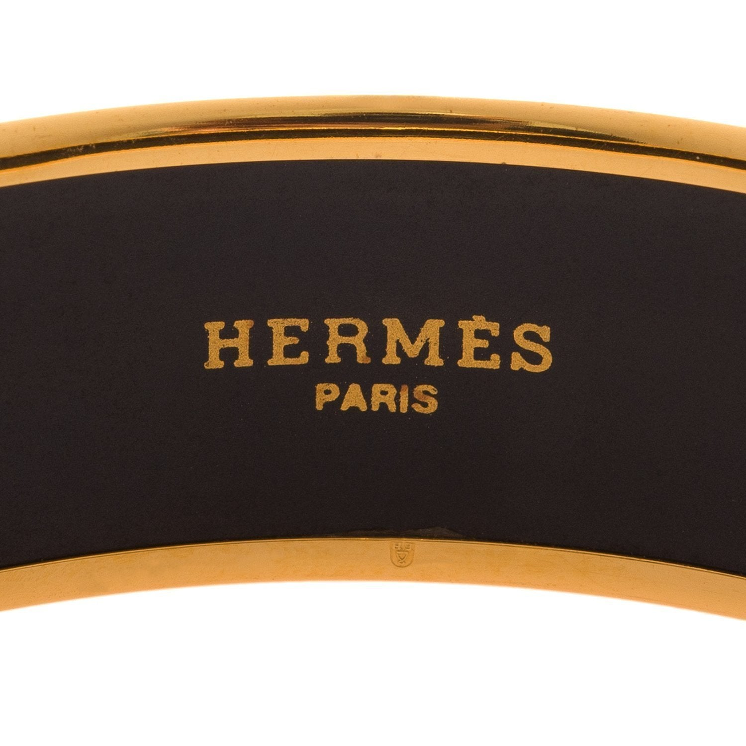 Hermes Chasse Au Bois Wide Printed Enamel Bracelet Pm 65 Preloved Mint Accessories