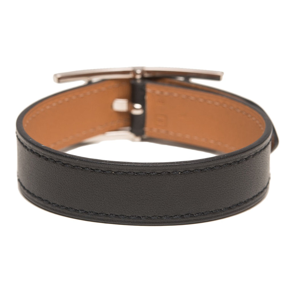 Hermes Black Leather Behapi Bracelet Small Accessories