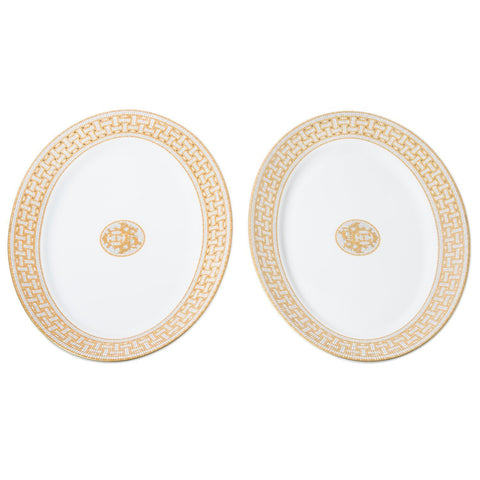 Hermes Mosaique Au 24 Porcelain Oval Platter Set Home