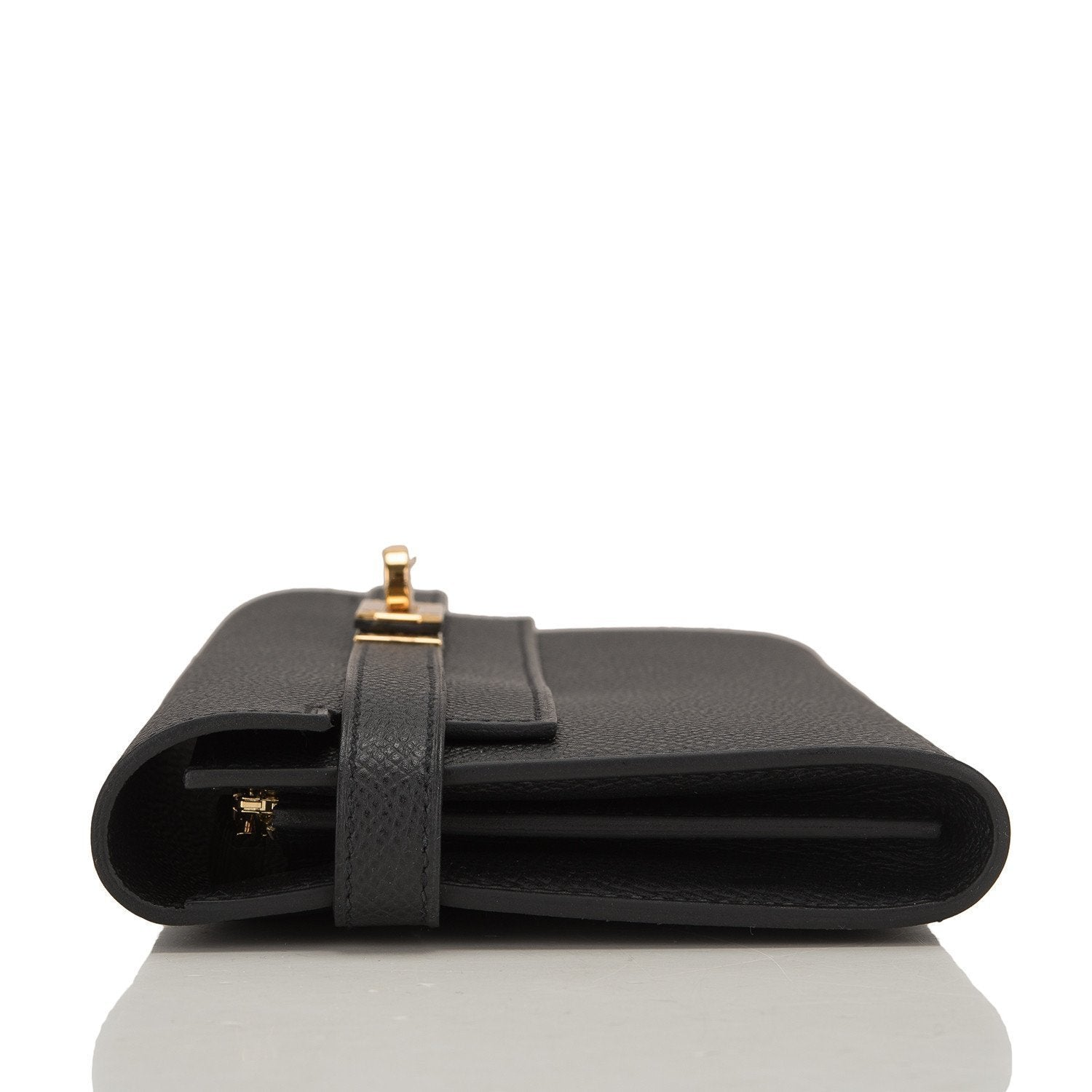 456ad936a52 ... real hermes black epsom kelly long wallet gold hardware 2467b b72aa