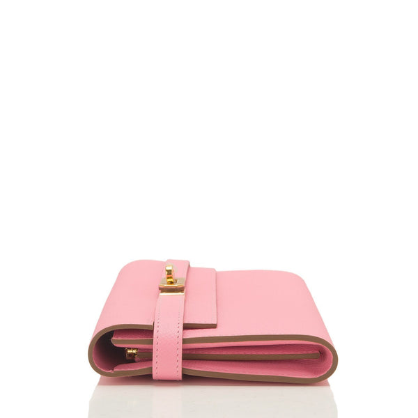 Hermes Rose Confetti Epsom Kelly Long Wallet Gold Hardware Accessories