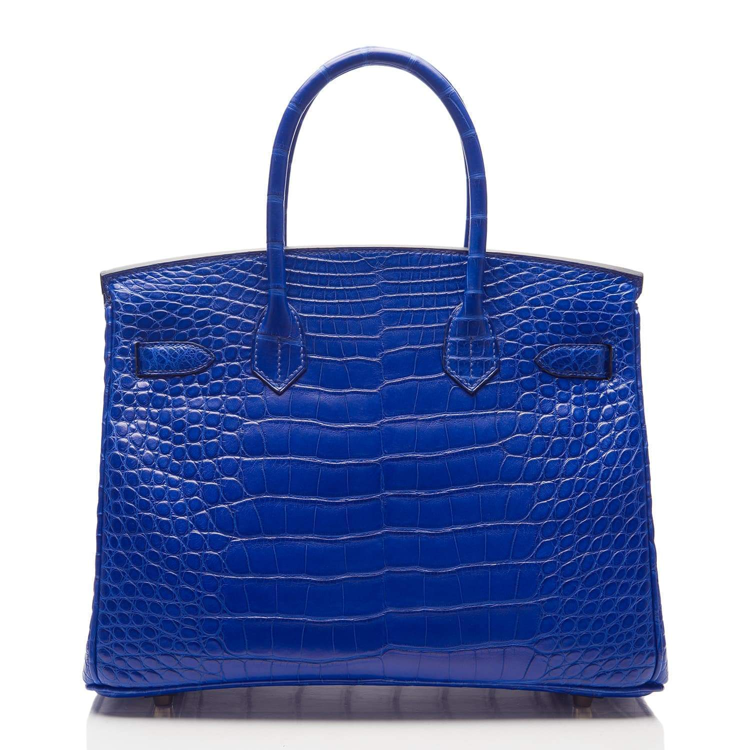 Hermes Blue Electric Matte Alligator Birkin 30Cm Gold Hardware Handbags