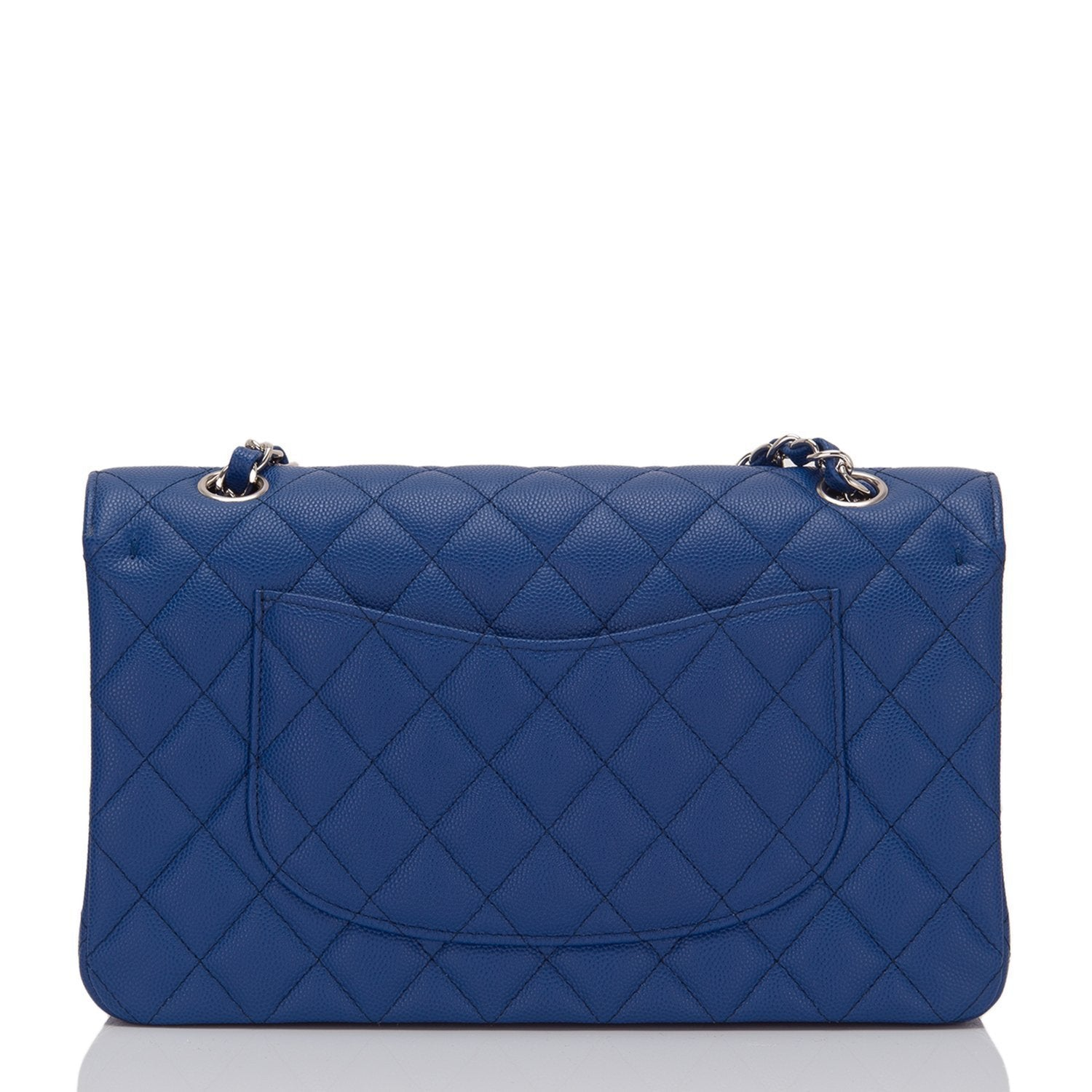 Chanel Blue Quilted Caviar Medium Classic Flap Bag – Madison Avenue ... f1aeb8a5f6e82
